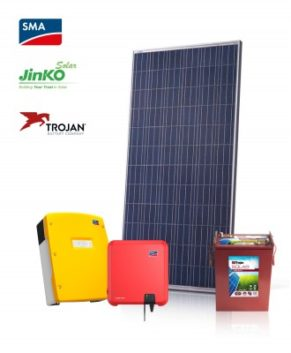 3.26kW On-grid system with battery backup