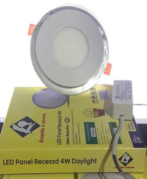 2-Colors LED panel lights with glass design-recess